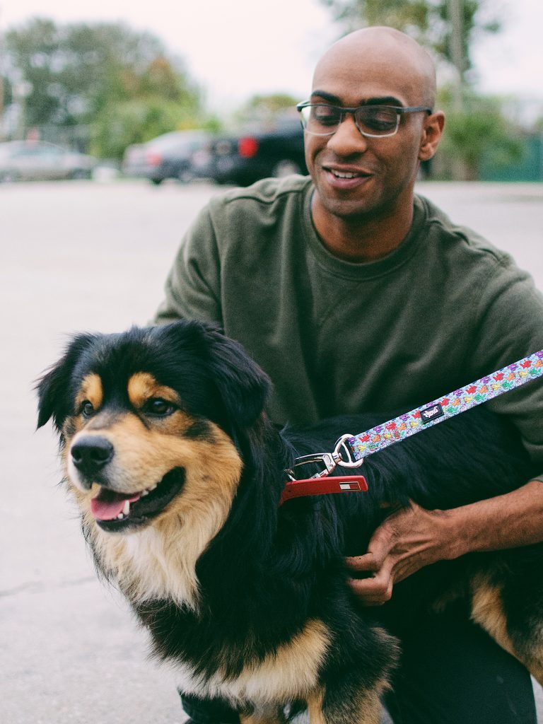 Dog on Heady Pet Leash