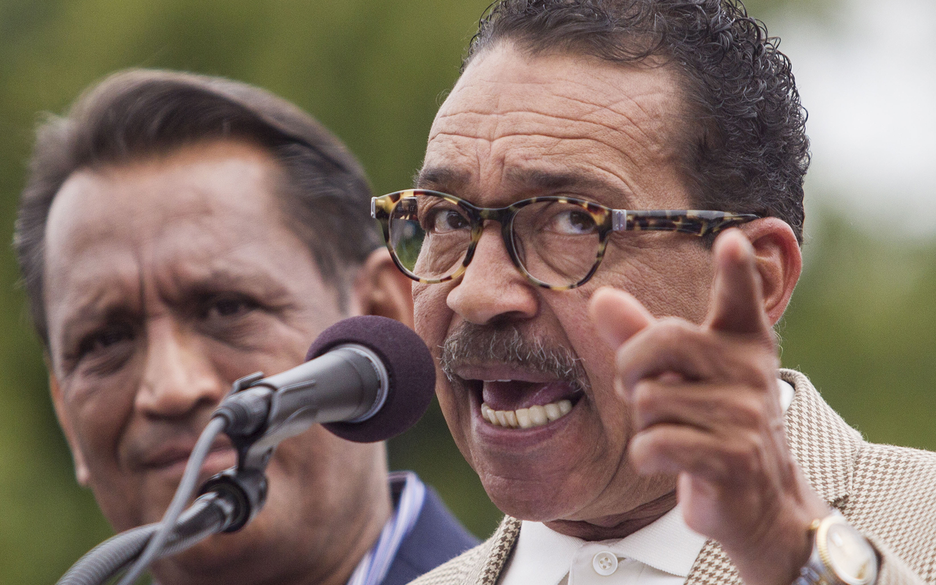 Los Angeles City Council president Herb Wesson has called for suspending and re-doing cannabis store licensing. (AP File Photo/Ringo H.W. Chiu)