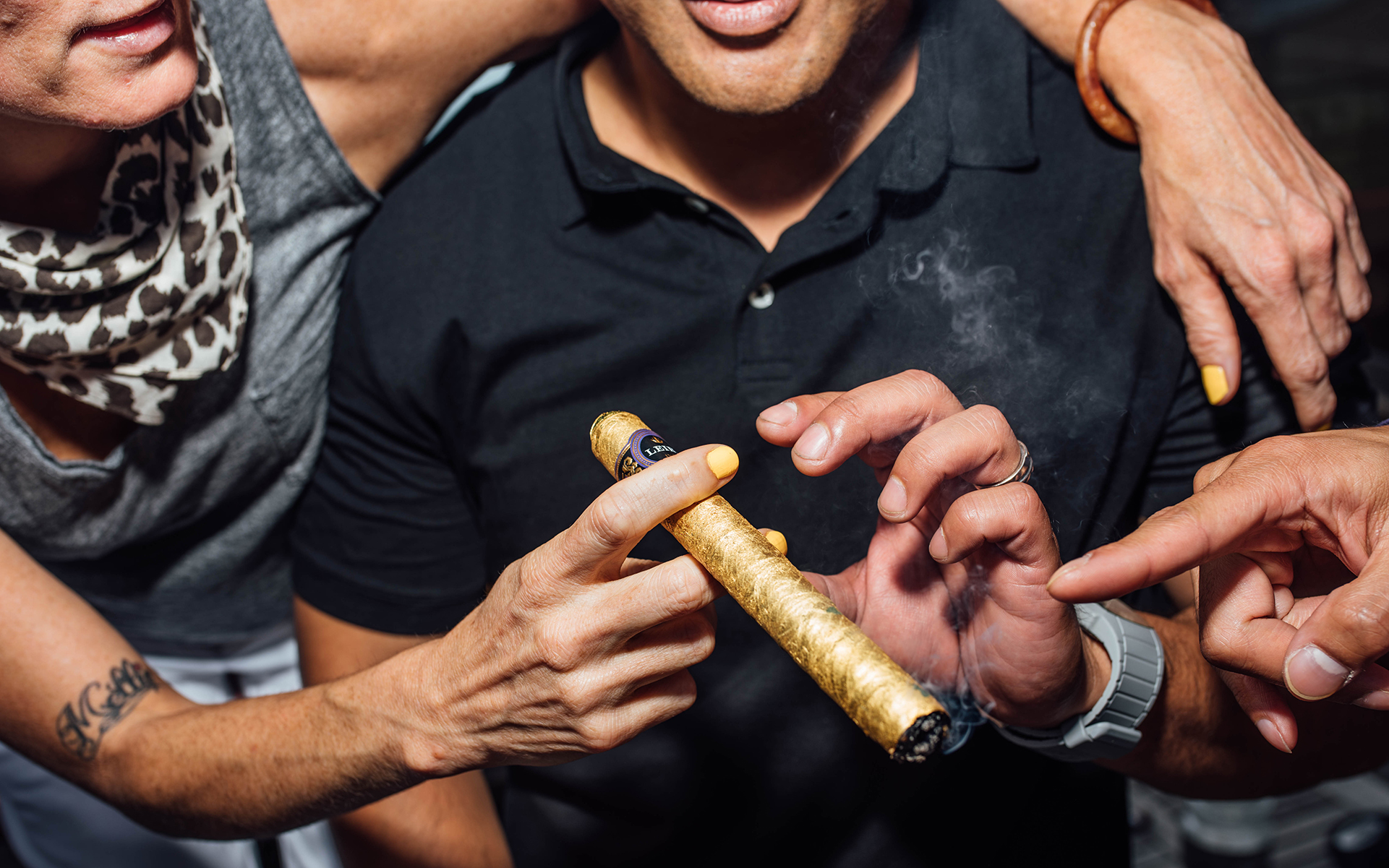 First Time in History? $10k Gilded 'Cannagar' Sells to Very Stoked Man in Seattle