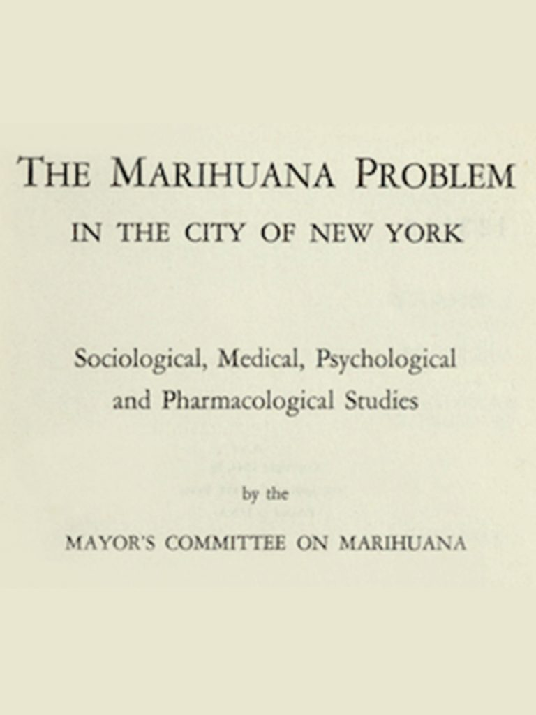 Marijuana book #2: The LaGuardia Report