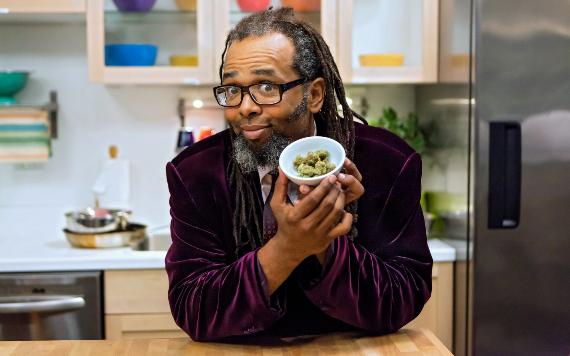 Cooking on High's cannabis expert — stomer comedian Ngaio Bealum (Netflix)