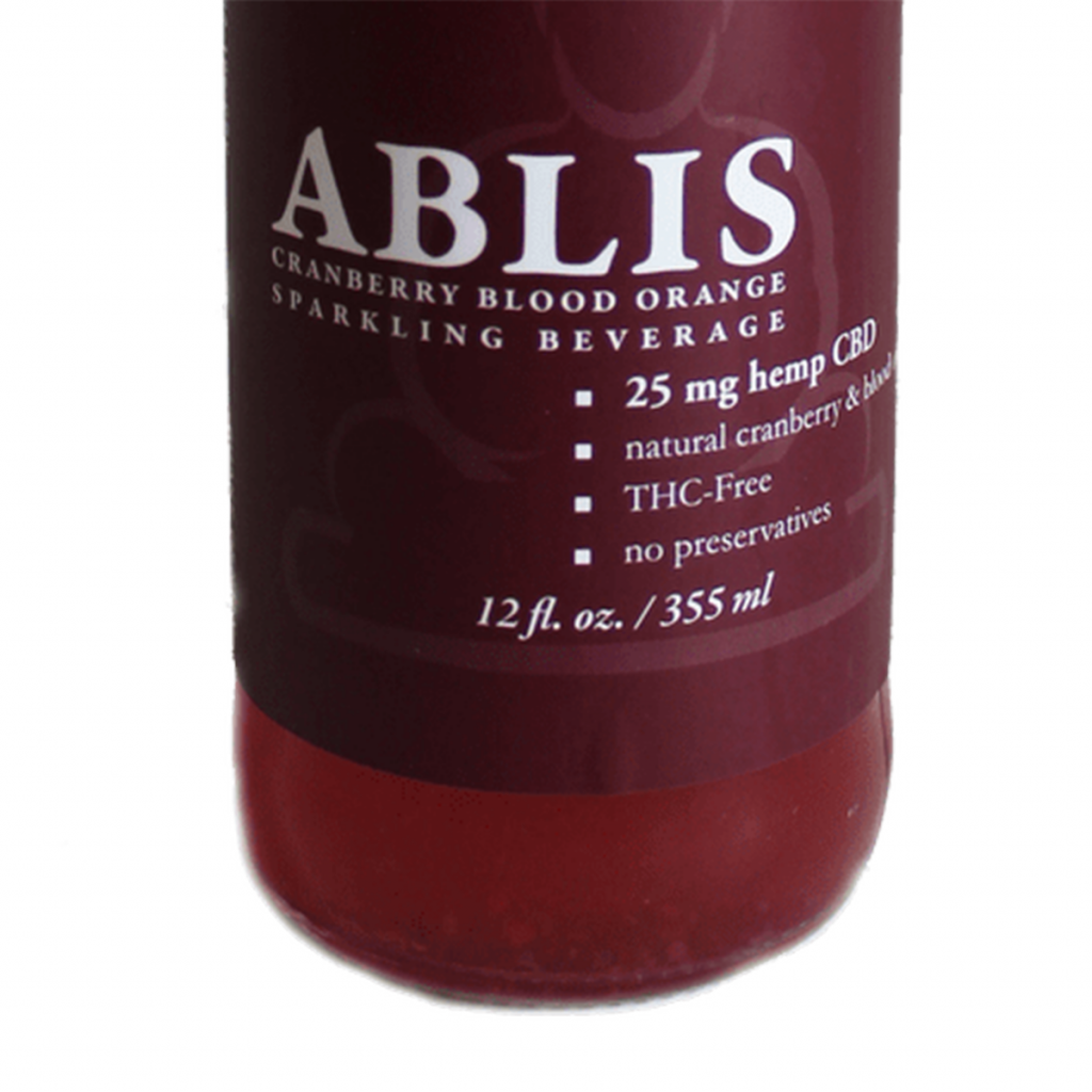 Best CBD Product in Oregon #5: CBD Lemon Sparkling Water by Ablis