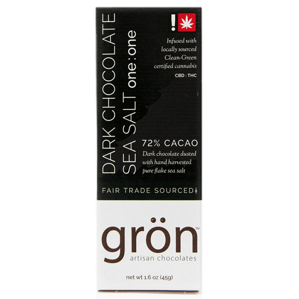 Best CBD Product in Oregon #7: Dark Chocolate Sea Salt CBD Bar by Gron