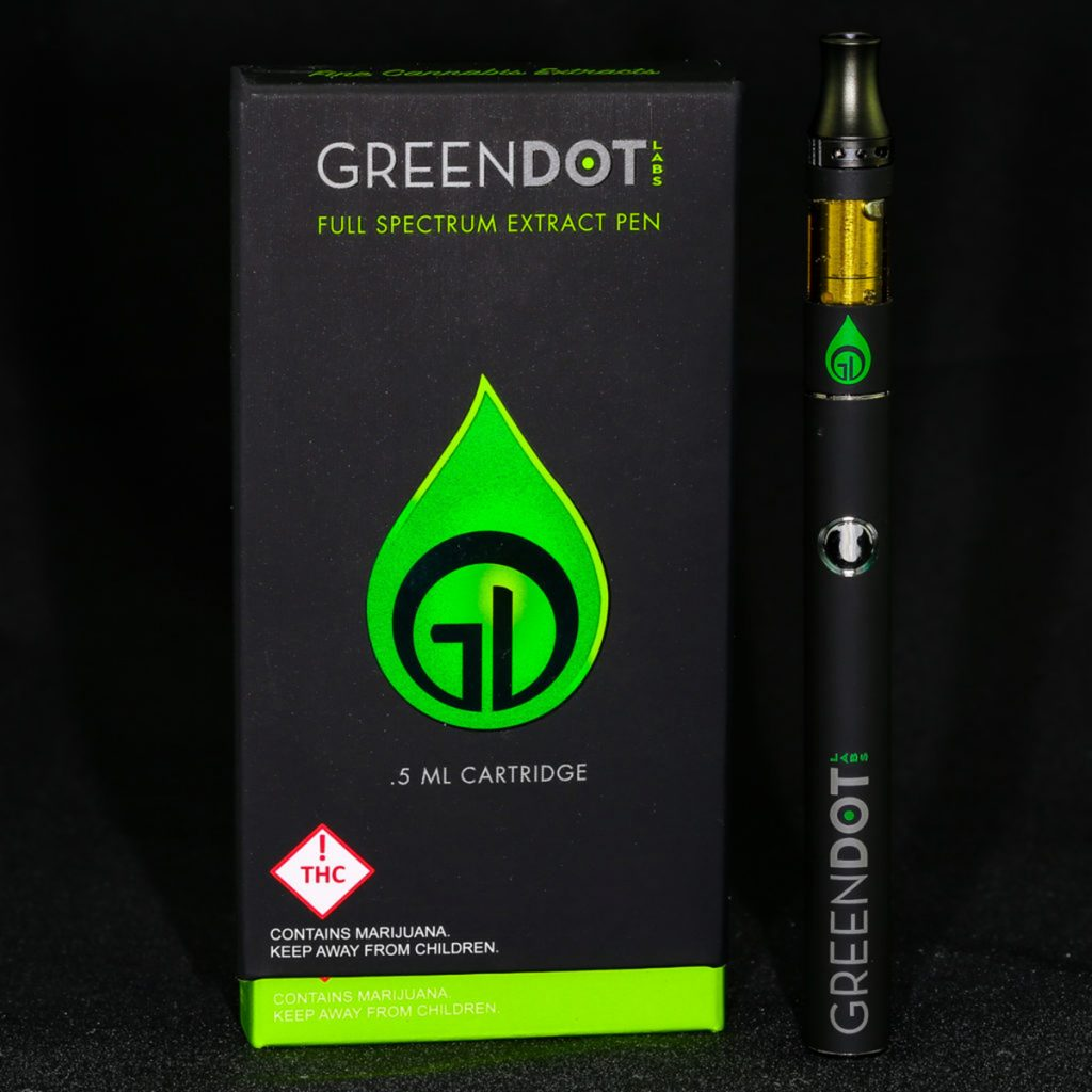 Best Colorado vape pen cartridge #3: Green Dot Full Spectrum Extract (FSE) Cartridges