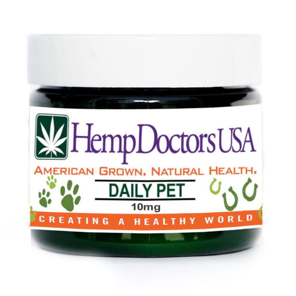 CBD product for dogs scared of fireworks #3: Daily Pet CBD Capsules by Hemp Doctors USA