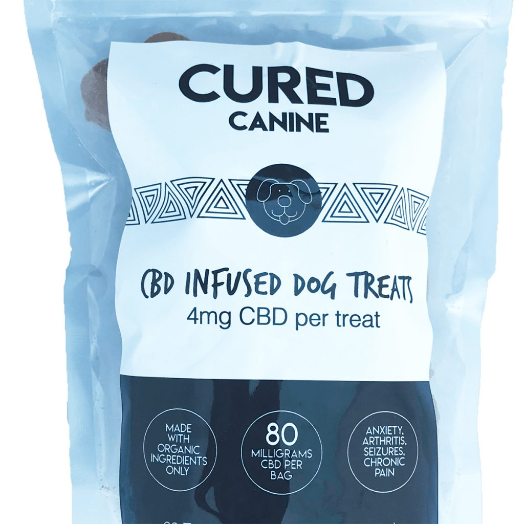 CBD product for dogs scared of fireworks #2: Canine Dog Treats by Cured Nutrition
