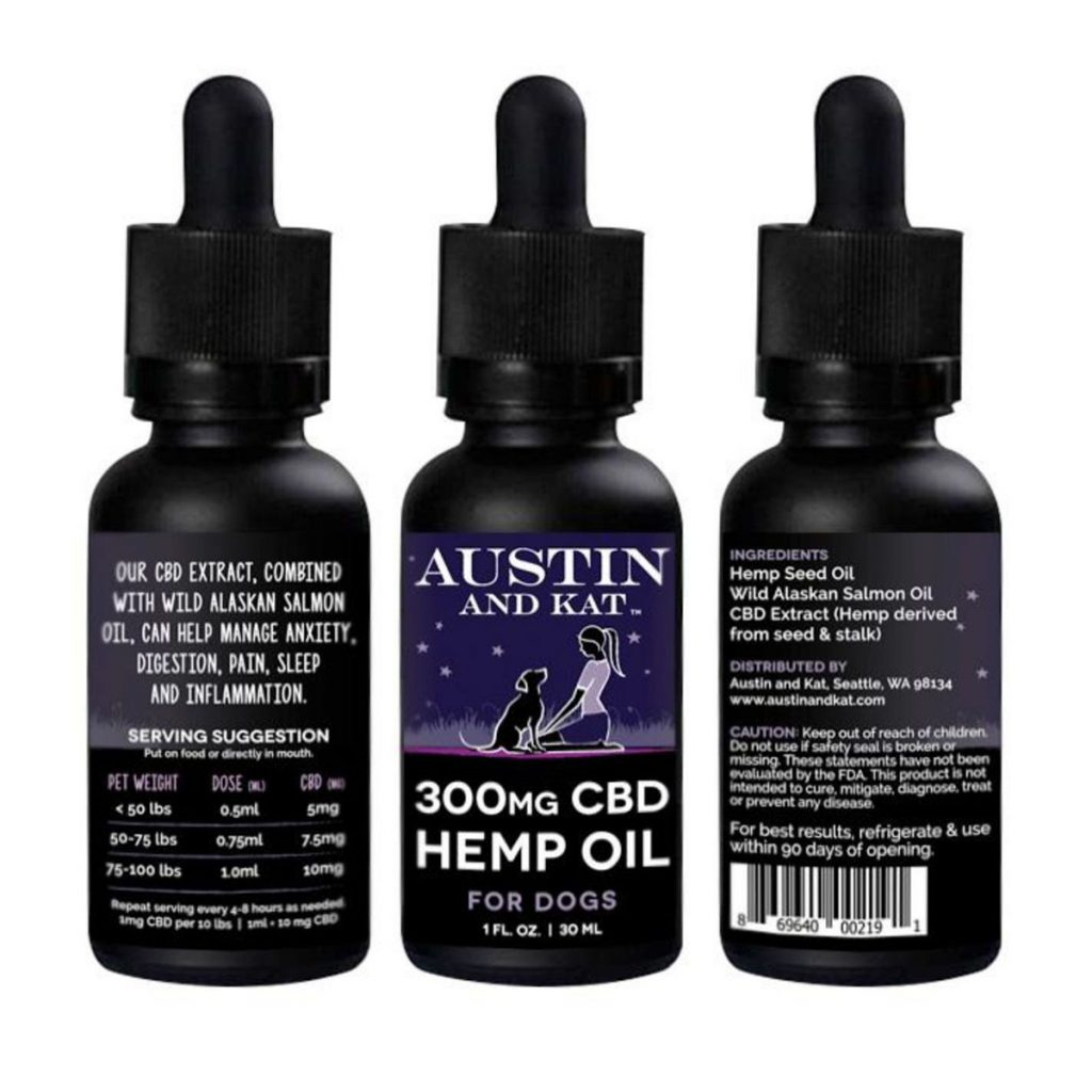 CBD product for dogs scared of fireworks #4: CBD Hemp Oil by Austin and Kat
