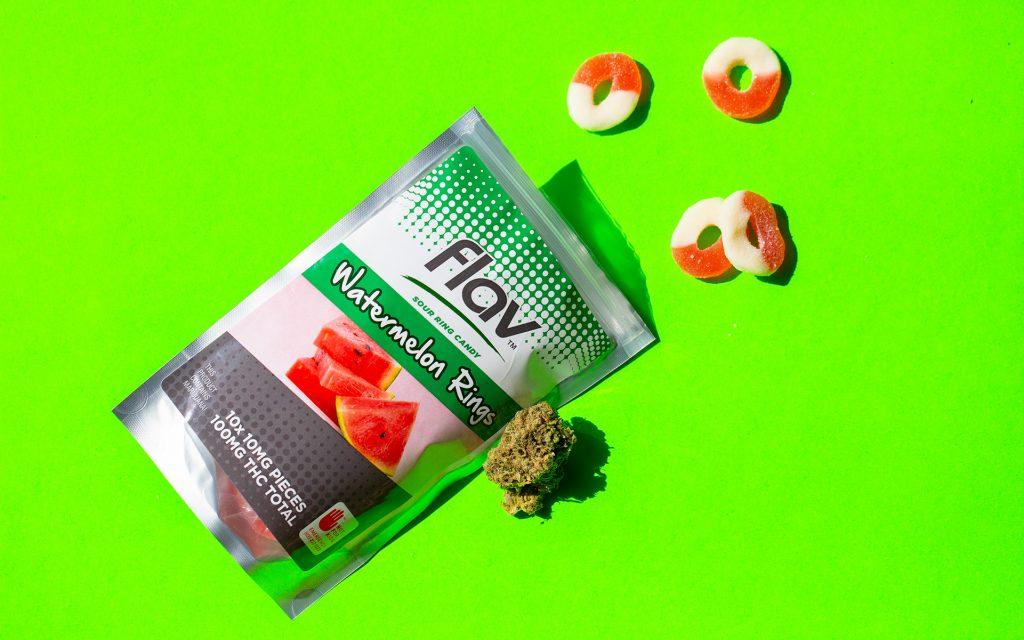Marijuana fruit edibles in Washington: Watermelon Rings from Flav
