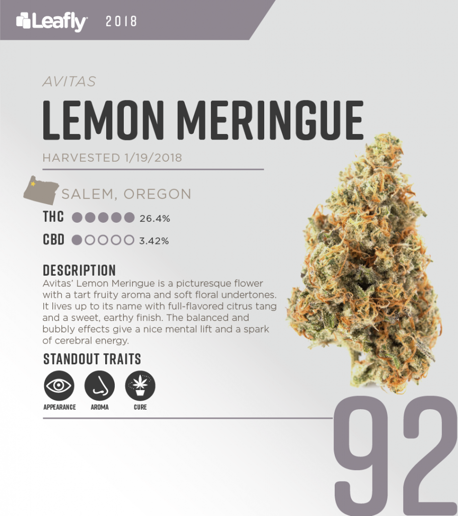 High-THC weed strains in Oregon: Lemon Meringue