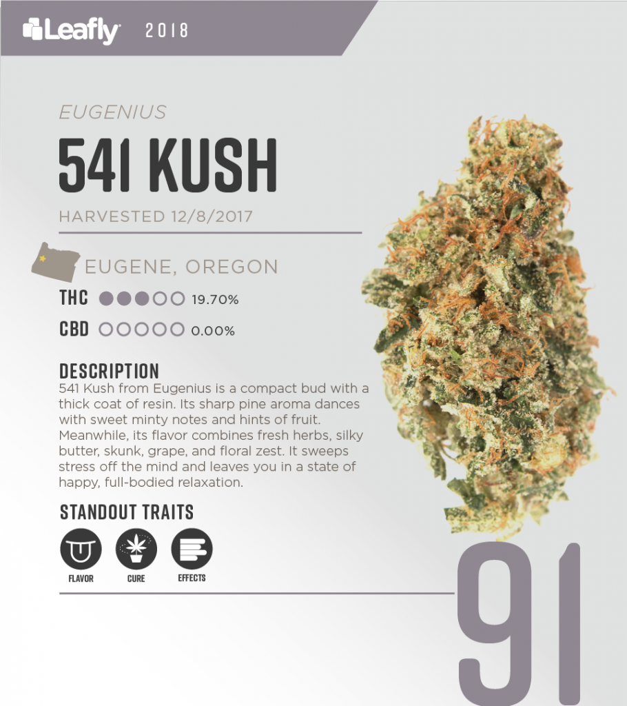 High-THC weed strains in Oregon: 541 Kush