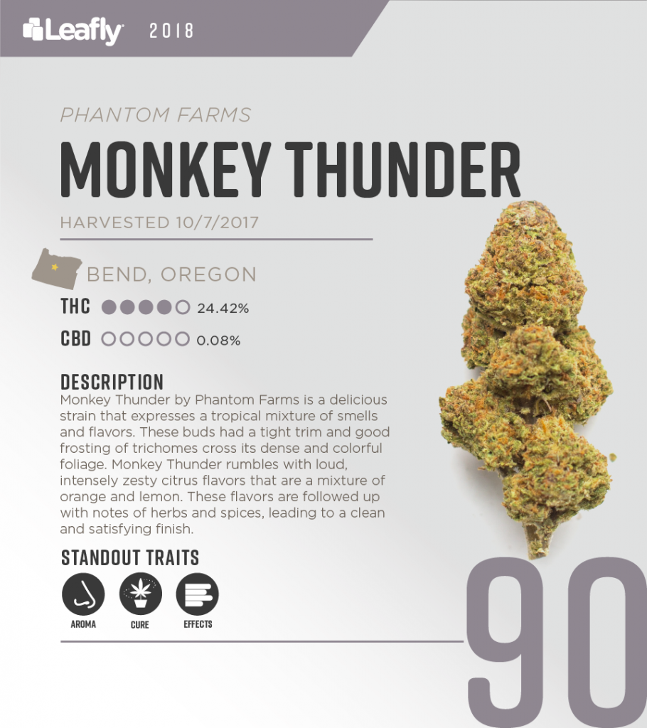 High-THC weed strains in Oregon: Monkey Thunder