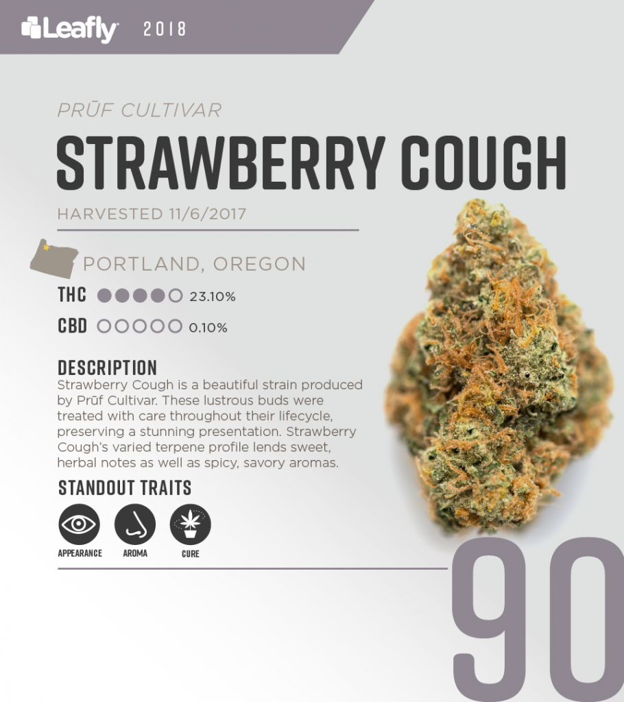 High-THC weed strains in Oregon: Strawberry Cough