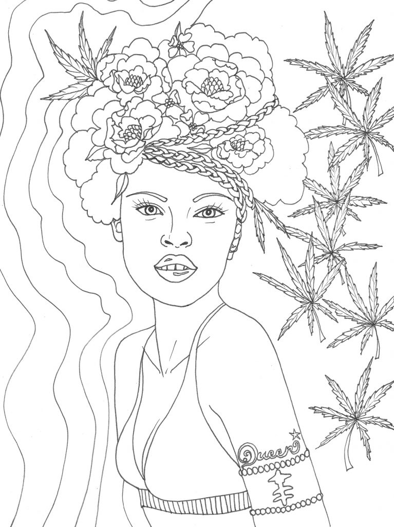 New Crush Alert The Stoner Babes Coloring Book