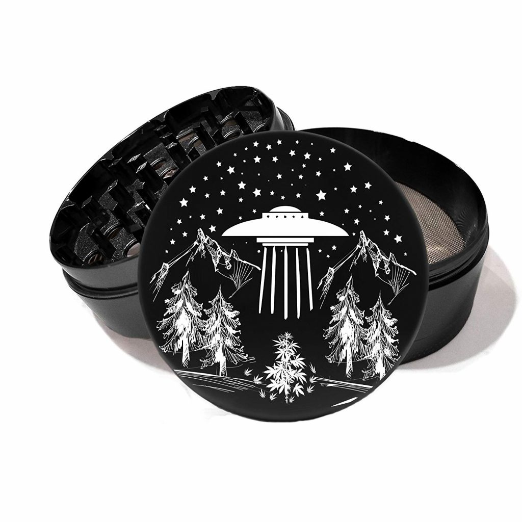 Alien weed product: Cannabis Wilderness UFO Grinder by Jewelry Volt