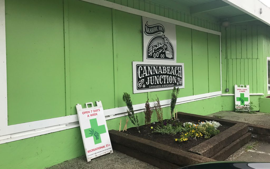 Oregon coast dispensaries & cannabis hotspots in Seaside: Canna Beach Junction