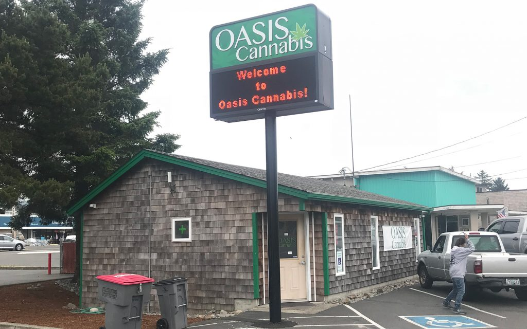 Oregon coast dispensaries & cannabis hotspots in Seaside: Oasis Cannabis