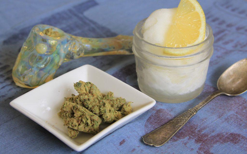 sweet weed strain that tastes like dessert: lemon banana sherbet
