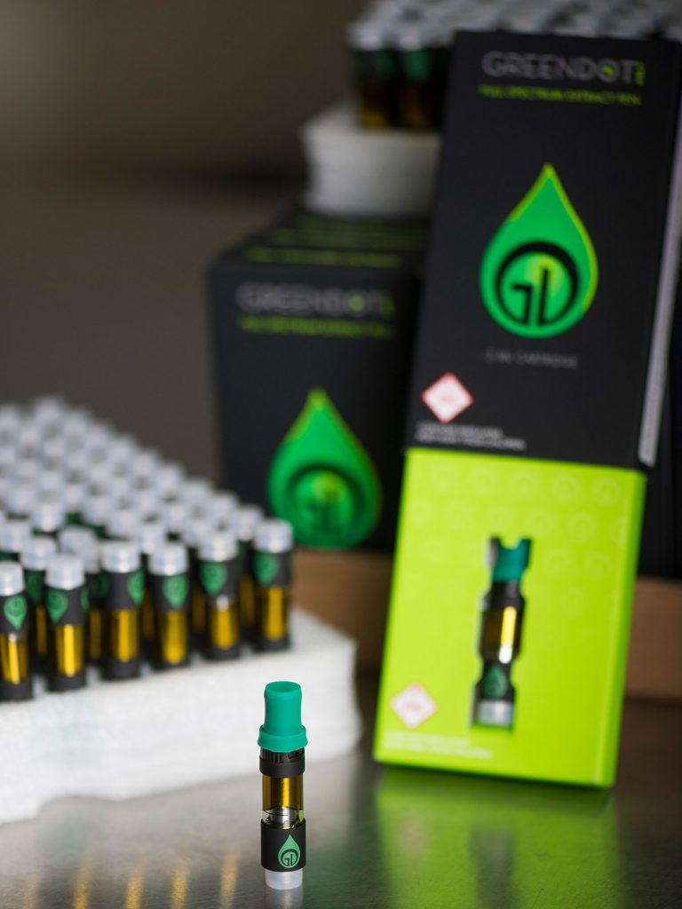 Green Dot Labs full-spectrum extract: full-spectrum extract vape pen cartridge