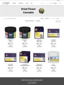 Marijuana legalization day in Canada: Cannabis flower packaging
