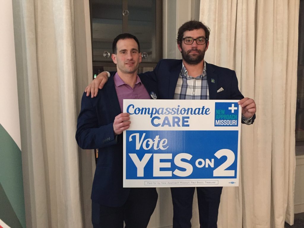 Election 2018 Cannabis Legalization Coverage And Results Leafly Missouri Judges 2010 General November 2nd Our Work Here Is Done John Payne Left Chris Chesley Of New Approach Can Take Their Signs Go Home Finally Sleep