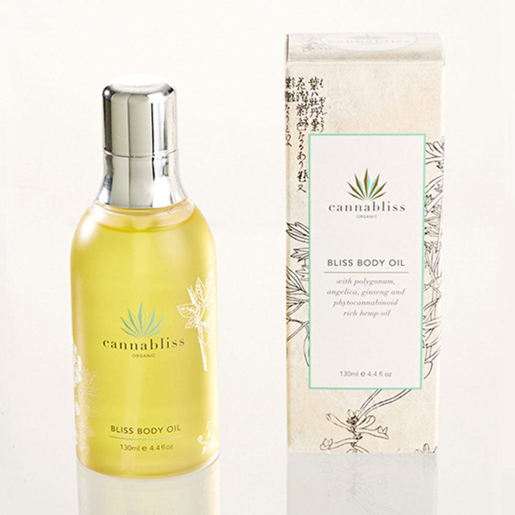 CBD & Hemp beauty product: Bliss Body Oil by Cannabliss Skincare