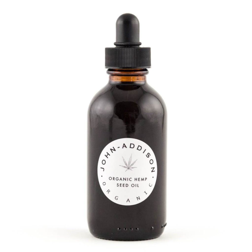 CBD & Hemp beauty product: Hempseed Oil for Hair by John Addison Organics