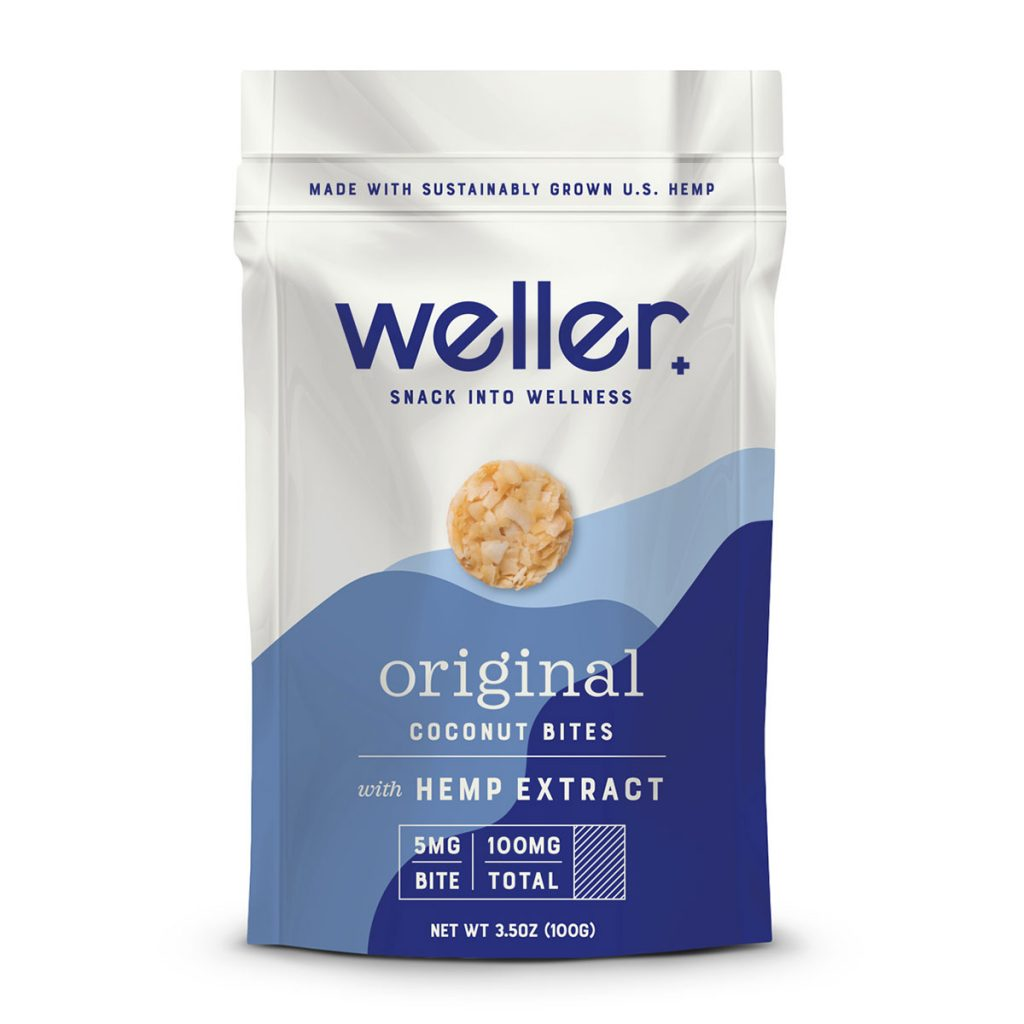 CBD products for a healthy lifestyle: Weller coconut snack bites with hemp extract