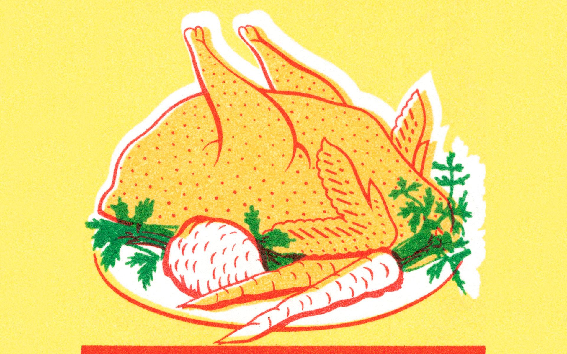Thanksgiving turkey, root vegetables