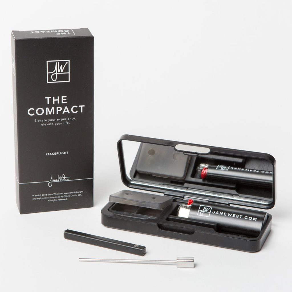 Discrete cannabis products for the holidays: The Compact from the Jane West Collection