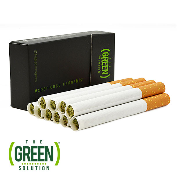 Discrete cannabis products for the holidays: Filtered Incognito Joints by The Green Solution