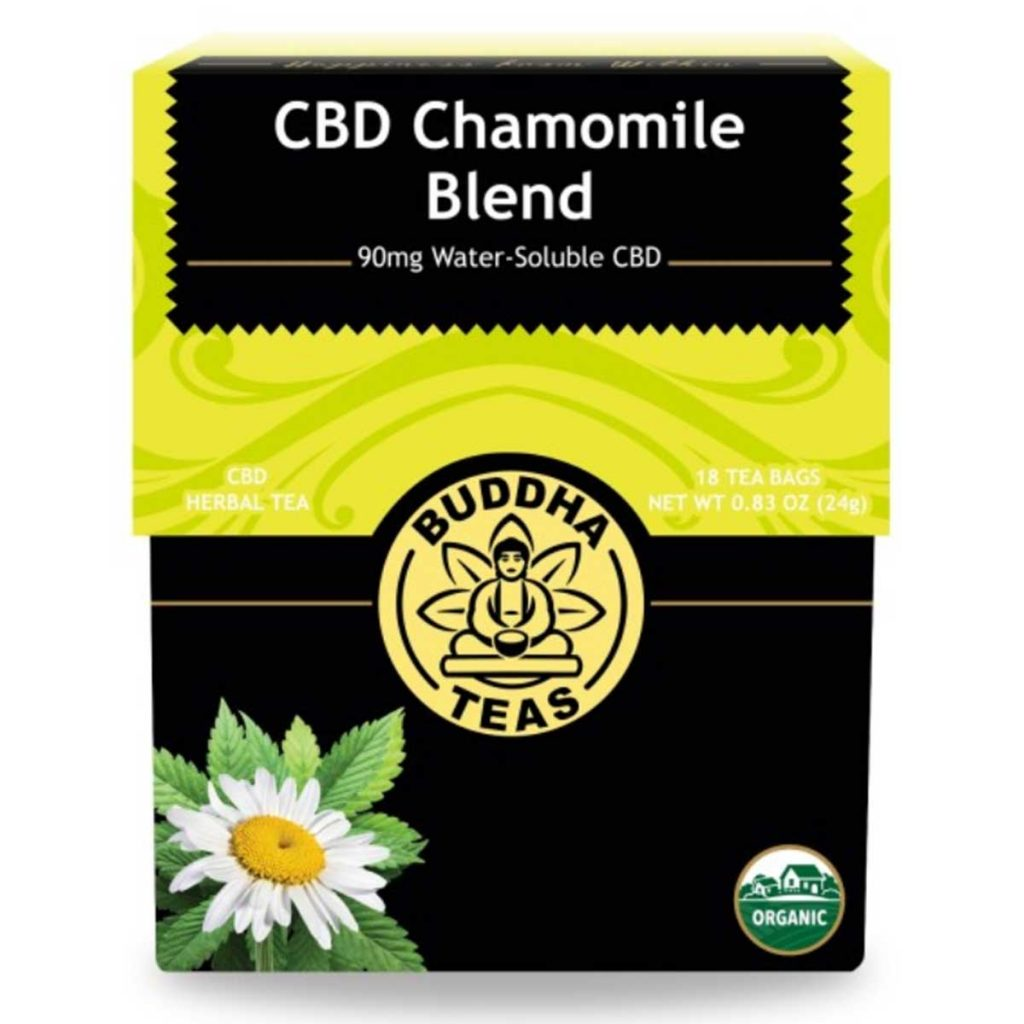CBD gifts & Stocking Stuffers: CBD Chamomile Tea by Buddha Teas