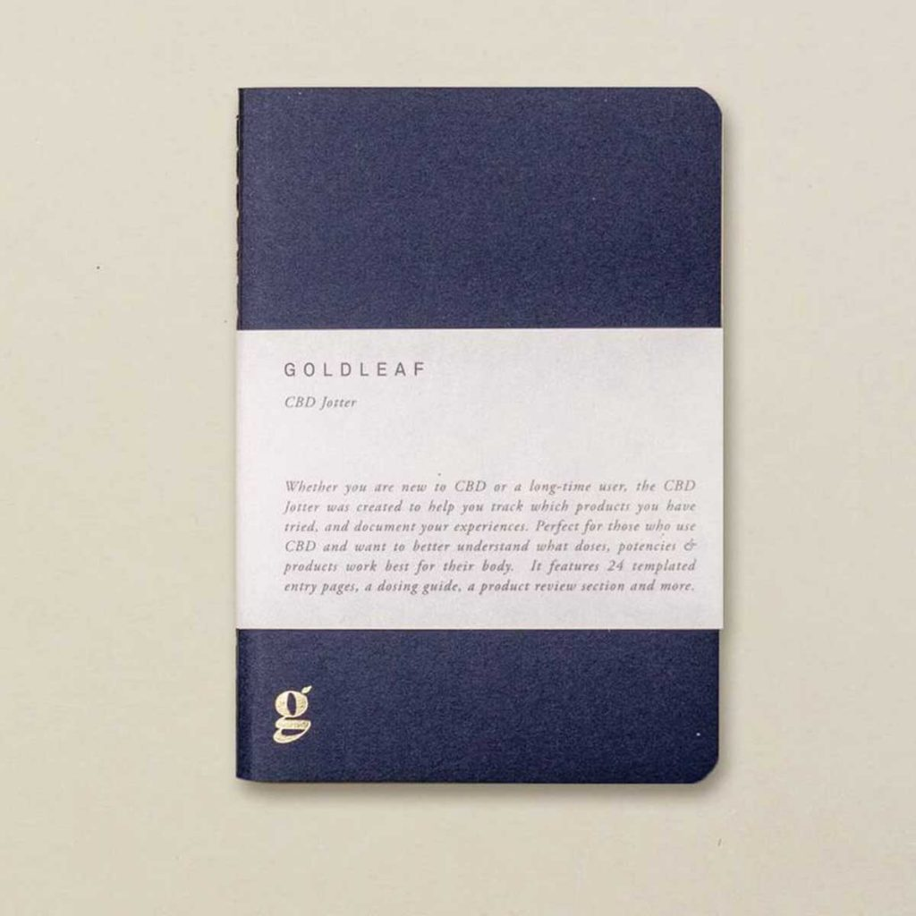 CBD gifts & Stocking Stuffers: CBD Jotter by GoldLeaf