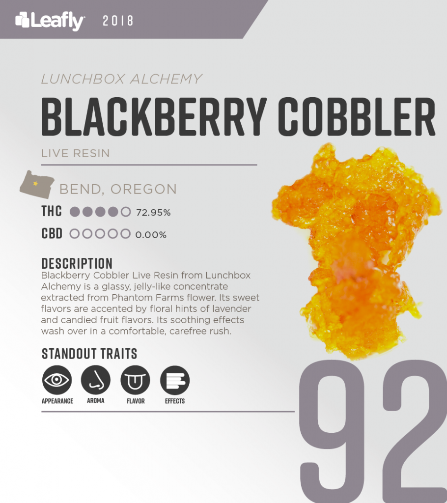Blackberry Cobbler Live Resin Lunchbox Alchemy Phantom Farms