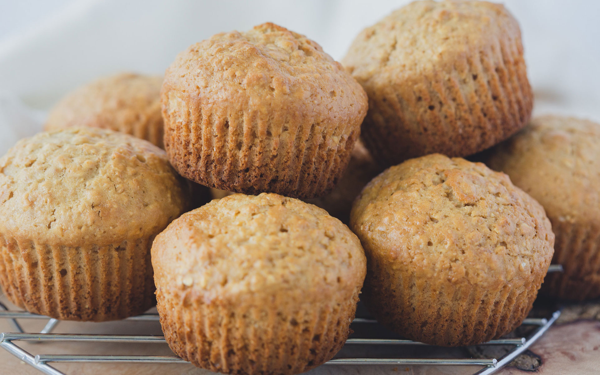 Cannabis-infused honey oat muffins