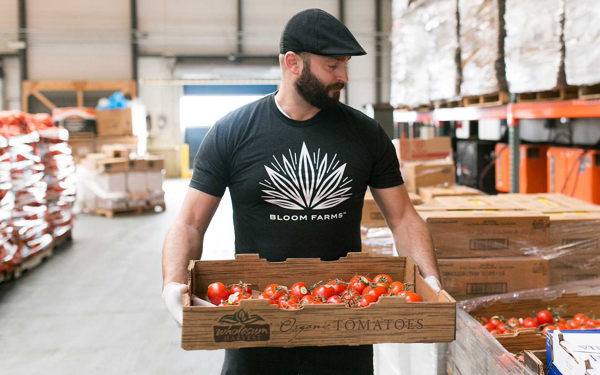 Bloom Farm's Michael Ray has donated one million meals to California food banks. (Courtesy of Kelly Ginn)
