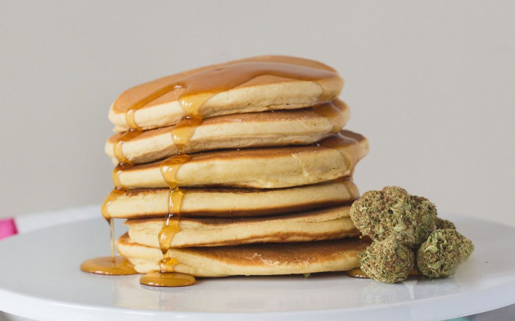 cannabis-infused maple syrup pancakes