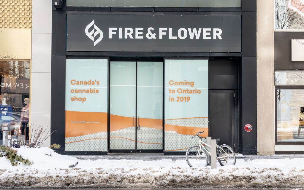 ontario retail fire & flower