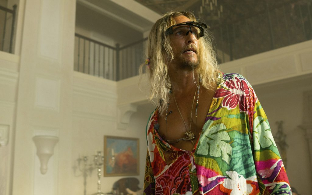 Stress Reliever: Matt McConaughey's character rejects the American rat race in Harmony Korine's new, cannabis-perfumed film.