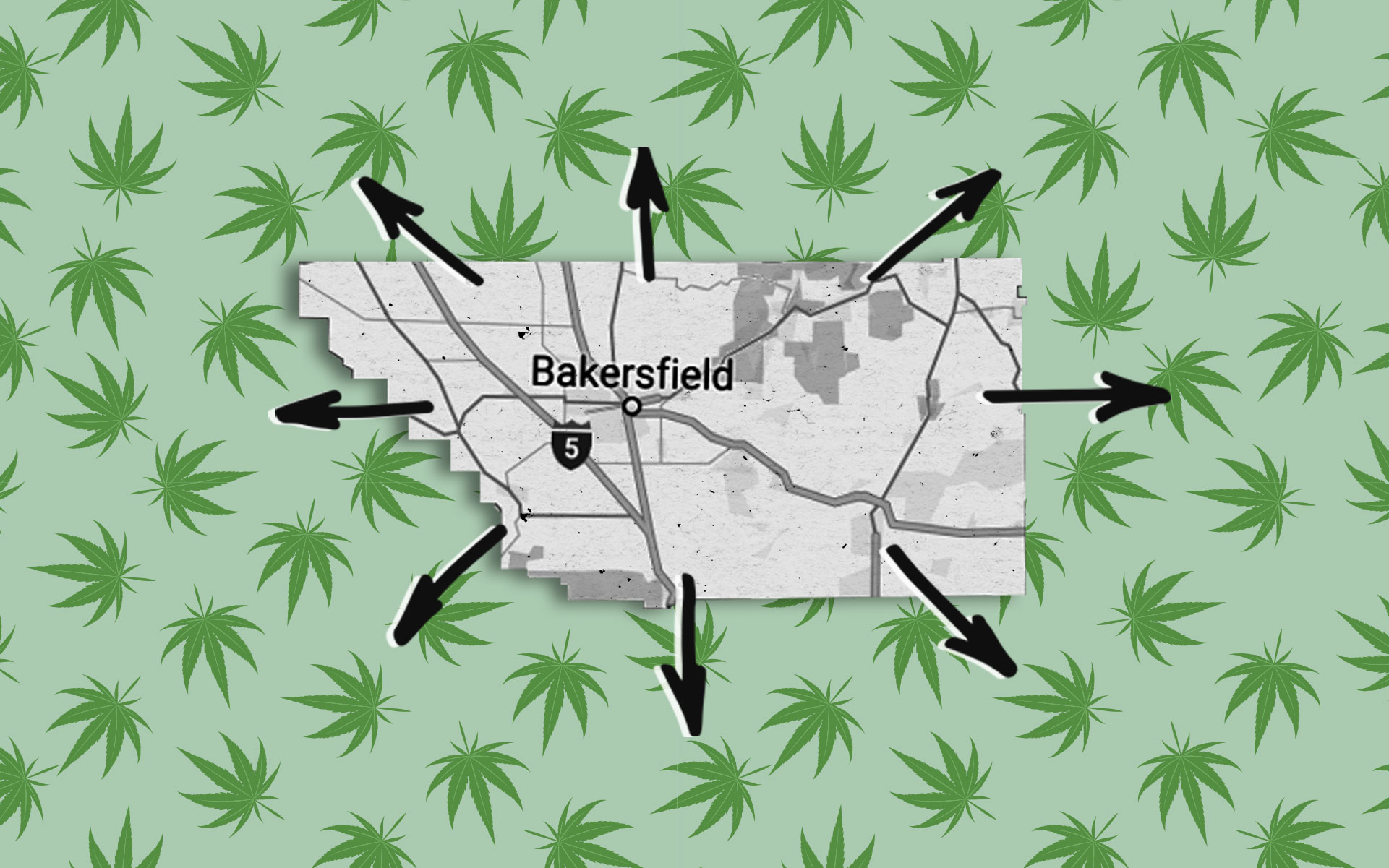 The Wasteland: In 2017, Kern officials rejected an estimated 8,750 jobs and $37.5 million in annual legal cannabis tax revenue. (GOLDsquirrel, luplupme/iStock, Google Maps)