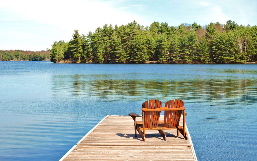 muskoka chair cottage lake