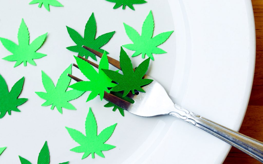 edibles fork plate