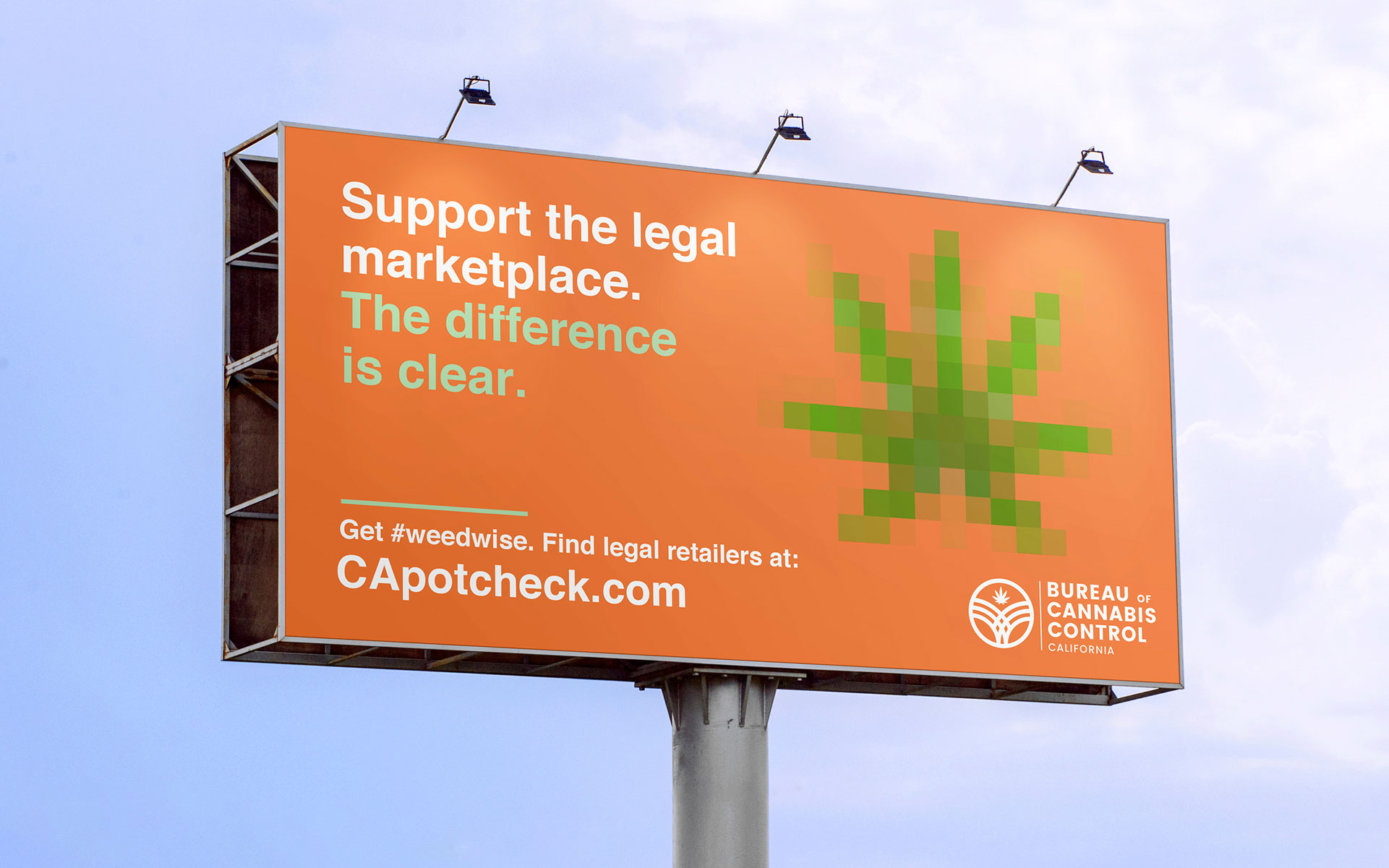 image of california billboard warns of risky illegal cannabis businesses