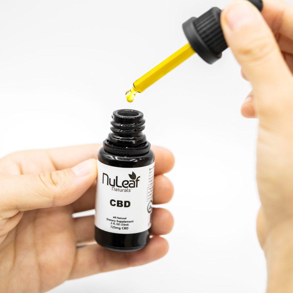 CBD oil in dropper