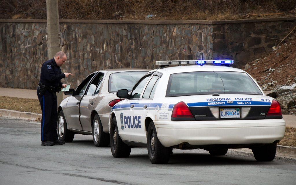 roadside cop traffic stop canada highway