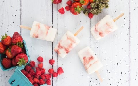 post-image-Recipe: Cannabis-Infused Strawberry and Raspberry Yogurt Pops