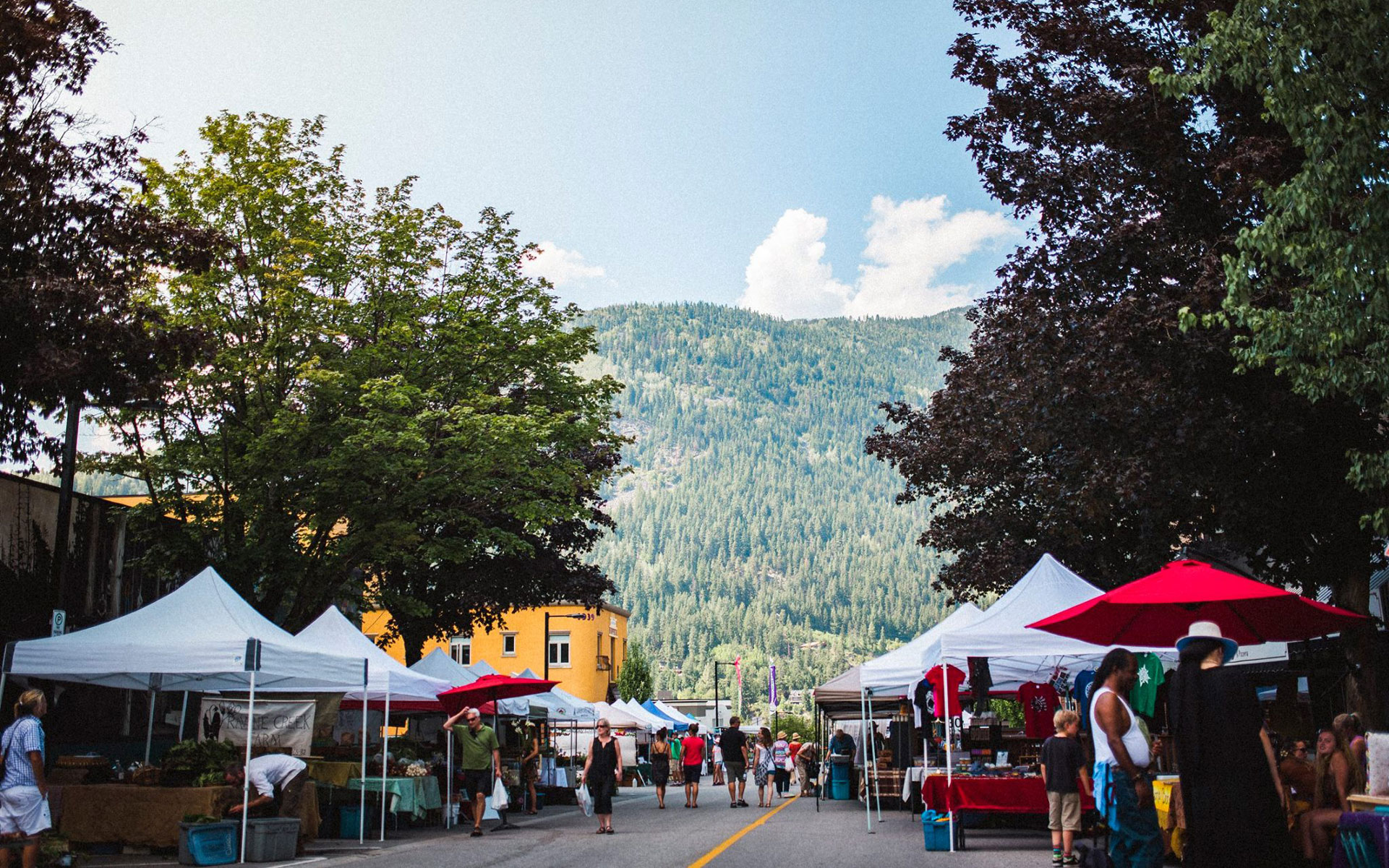 british columbia farmers market mountains