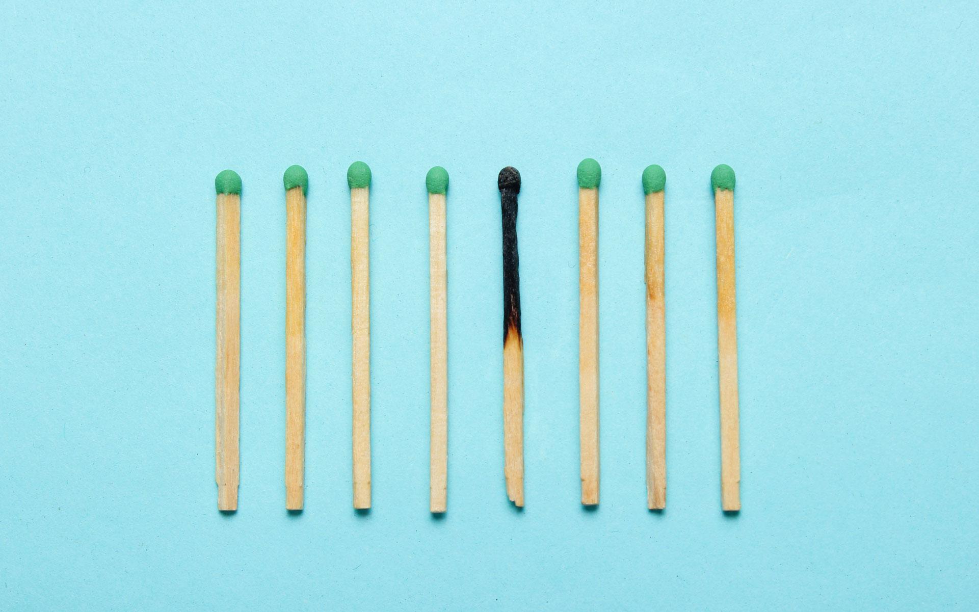 matches burnout sundial