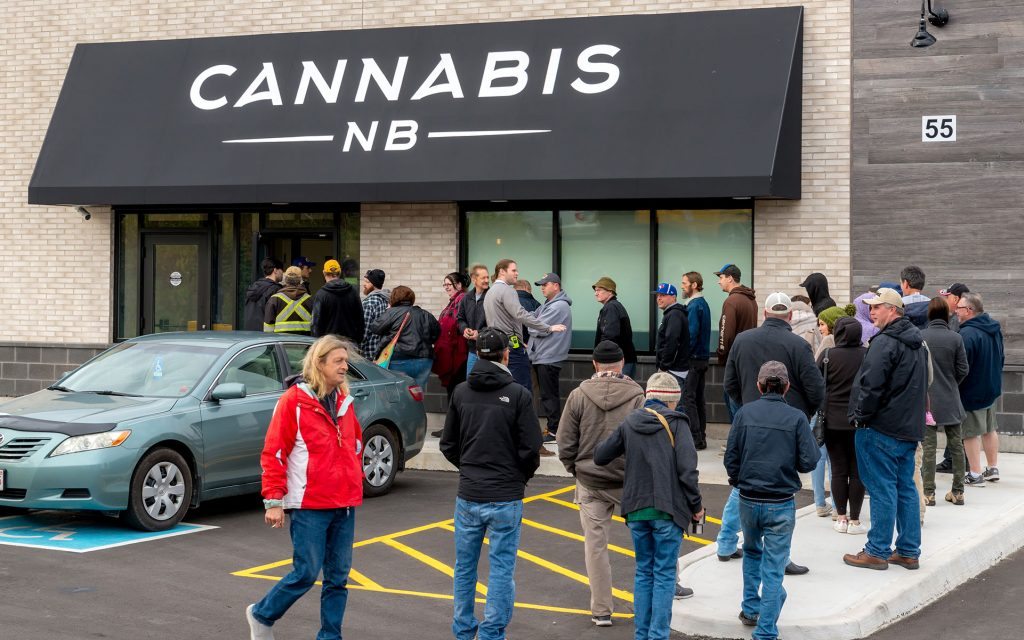 cannabis nb line legal retail
