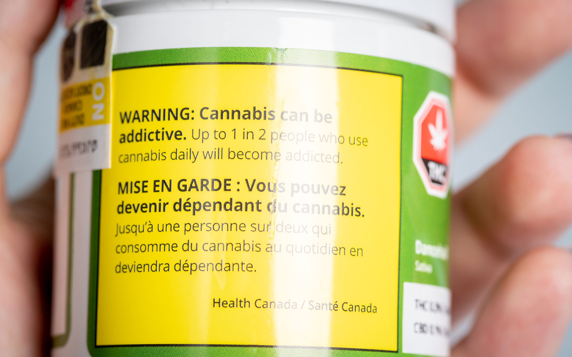 cannabis warning label