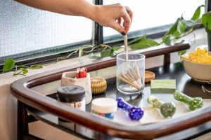 party rolling station, hand grabbing preroll